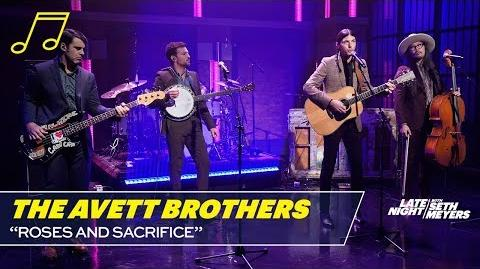 """The Avett Brothers perform """"Roses and Sacrifice"""" on Late Night, October 24 2018"""