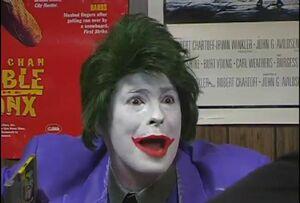 Mike as the Joker