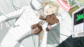 Heito with his beloved teddy bear