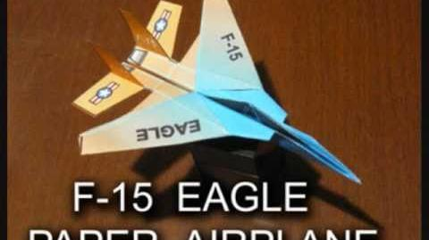 How to make an F-15 Eagle Paper Airplane (Type B)