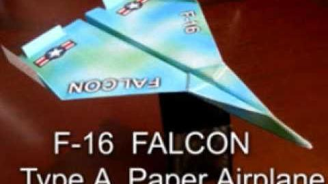 F-16 Falcon Paper Airplane (Type A-1)