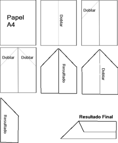 Esquema de fabricación de un avión de papel