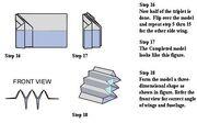 Triplet paper airplane 3