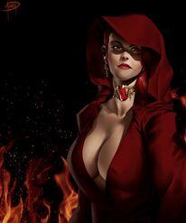 Serana Secura (The Red Priestess by megaween on DeviantArt)