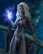 Ssenya Sithe (Drow Sorceress by goatlord51 on DeviantArt)