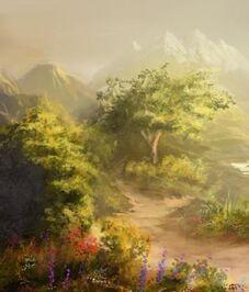 Anlessea2 (Majestic Fantasy Landscape by jjpeabody on DeviantArt)