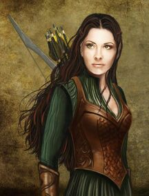 Woudelf (Tauriel, a Silvan Elf by Simaell on DeviantArt)