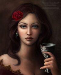 Khonaire Share (Rione Cousland A Portrait by DragonReine on DeviantArt