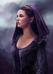 Relayne Althand (Half elf sorceress by Loles Romero on cgsociety.org).jpg
