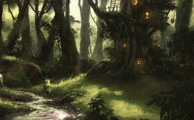 Aelïngang (Treehouse Concept by Victor-Lam-art on DeviantArt)