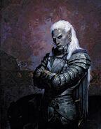 Generaal Kazhar Tah'lar (Dark Elf by Gerald Brom on fantasygallery.net)