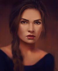Gloire Elvarne (Female Portrait Study 26 Day 117 by AngelGanev on DeviantArt)