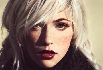 Aeldima Evaile (Portrait Practice 6 by 0xfffwhite on DeviantArt)