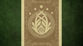 Duwa Cenne (The Elder Scrolls Flag of Valenwood by okiir on deviantart)