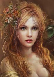 Valea de Zaletto (fantasy lady by MoonSpiryt on DeviantArt)