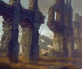 Land van Duizend Ruïnes (Aqueduct Picture by Levi Hopkins on digital-art-gallery.com)