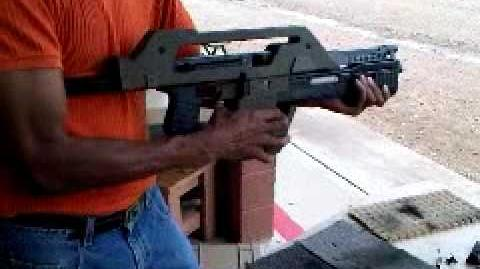 ALIENS Pulse Rifle M41-A, the real deal, full auto and shoots real bullets video 1
