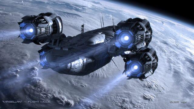 頑丈そうな宇宙船画像
