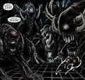 The four Ani-Men Xenomorphs
