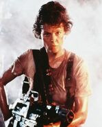 Ripley with weapon