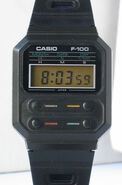 Casio F-100 close-up