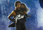 Aliens poster Ripley's flamethrower