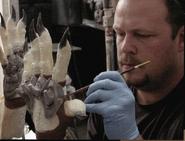 Brian Clawson paints gloved Predator
