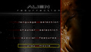 Alien Resurrection (1999 DVD) menu