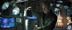 David examines cylinder