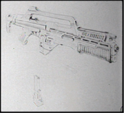 MP5 Pulse Rifle concept art
