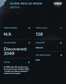 Gliese 581g.02 Moon- Gedda