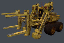 Wheeled power loader