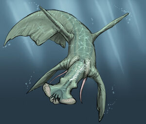 Aquatic predator sketch by alienamoeboid-d5corup