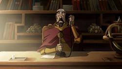 Tenzin using a telephone