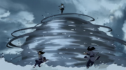 Korra attack Desna and Eska waterbending