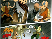 Aang saving a man