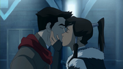 Mako and Korra's last kiss