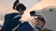 Korra threatens Judge Hotah