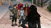 Asami offers her airship