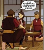 Ikem encouraging Zuko