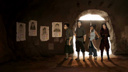 Team Avatar and their wanted posters