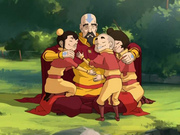 Tenzin and his children.