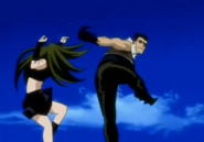 Envy Fighting Greed in Original Anime