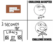 Challenge accepted Libary challenge