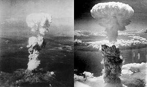 Atomic bomb over Hiroshima and Nagasaki
