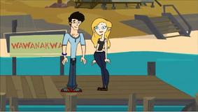 Axel i Tris na molo w Wawanakwie