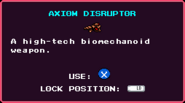 Weapons AxiomDisruptor