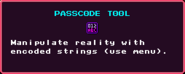 Passcode Tool Pickup
