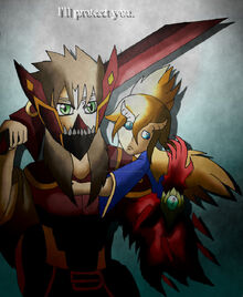 Doragon konpaku i ll protect you by axisofdestruction-d9x9gk3