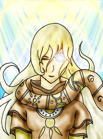 Doragon konpaku shiro goddess of light by axisofdestruction-d8by8qr
